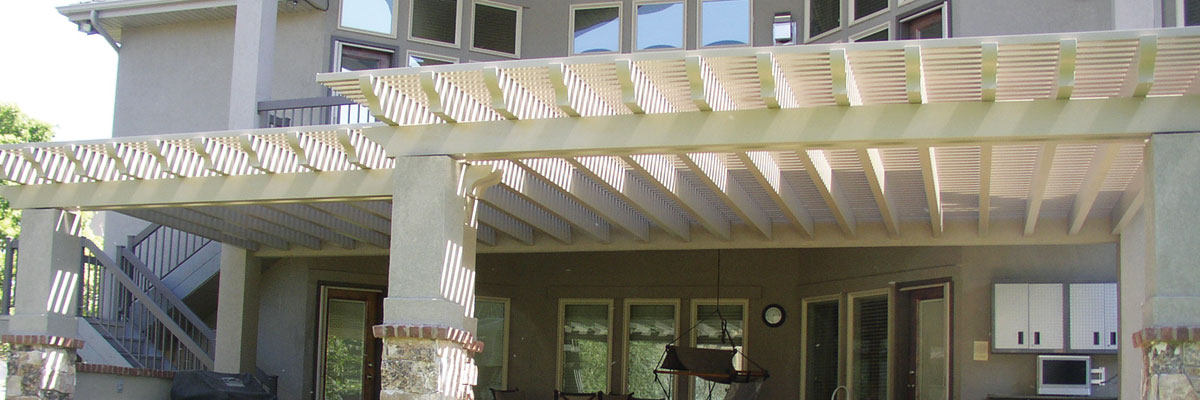 gorgeous white lattice cover in Provo