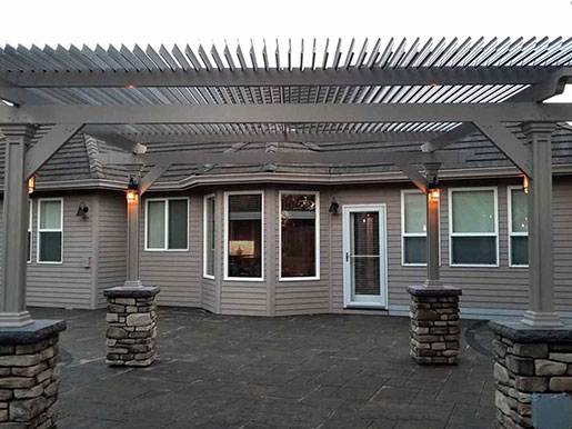 Custom Designed Louvered Patio Cover by Sunsational Home Improvement
